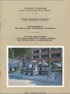 récifs artificiels 1982